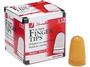 Swingline 54035 Rubber Finger Tips, Size 11 1/2, Medium, Amber, 12/Pack