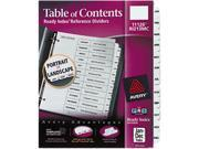 Avery 11126 Ready Index Classic Tab Titles, 12-Tab, Jan-Dec, Letter, Black/White, 12/Set