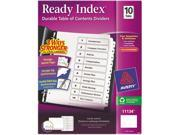 Ready Index Customizable Table of Contents Black White Dividers 10 Tab Ltr