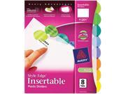 Insertable Style Edge Tab Plastic Dividers 8-Tab Letter