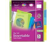 Insertable Big Tab Plastic Dividers 5-Tab Letter