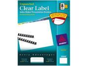Avery 11999 Index Maker Clear Label Contemporary Color Dividers, 8-Tab, 25 Sets/Pack