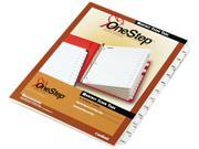 Cardinal 60313 Traditional OneStep Index System, 12-Tab, Months, Letter, White, 12/Set