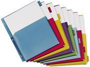 Cardinal 84013 Poly Expanding Pocket Index Dividers, 8-Tab, Letter, Assorted, 8/Set
