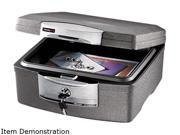 Waterproof Security Chest, .36 ft, 15-1/4w x 14-7/8d x 7-1/2h, Charcoal Gray