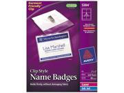 Avery 5384 Badge Holders w Laser Inkjet Inserts Top Load 3 x 4 White 40 Box