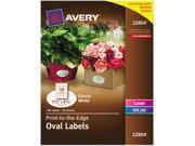 """Avery 22804 Easy Peel Print-to-the-Edge Label 1.50"""" Width x 2.50"""" Length - 1 / Pack - Oval - 18/Sheet - Laser, Inkjet - White"""