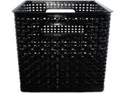Advantus AVT-40328 Weave Bins, 13 7/8 x 10 3/4 x 8 3/4, Plastic, Black, 2 Bins