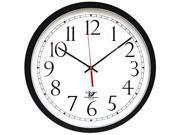 Chicago Lighthouse ILC67800613 SelfSet Wall Clock 14 1 2 Black