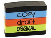 U.S. Stamp Sign 8801 Stack Stamp COPY DRAFT ORIGINAL 1 13 16 x 5 8 Assorted Fluorescent Ink