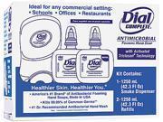 Dial Complete 09400 Duo Soap Dispenser Kit, 7 1/4 x 3 7/8 x 11 3/4, 1250 mL Cartridge, Smoke, 1 Pack