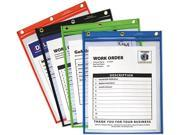 C-Line 50920 - Heavy-Duty Super Heavyweight Plus Shop Ticket Holders, Assorted, 12 x 9, 20/BX