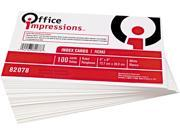 Office Impressions 82078 Ruled Index Cards