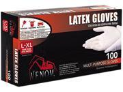 Medline Industries VEN4125 Venom Powdered Latex Multi-Purpose Disposable Gloves, One-Size