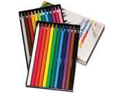 Koh-I-Noor FA875824 Progresso Woodless Colored Pencil 7.6 mm Lead Diameter - Assorted Lead - 24 / Set
