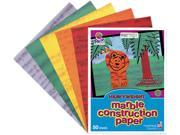 Pacon 148200 Art Street Marble Construction Paper, 76 lbs., 9 x 12, Assorted, 50 Sheets/Pack