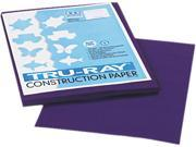 Pacon 103019 Tru Ray Construction Paper 76 lbs. 9 x 12 Purple 50 Sheets Pack
