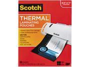 TP3854-50 Scotch Letter size thermal laminating pouches, 3 mil, 11 1/2 x 9, 50/pack
