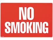 COSCO 098068 Two-Sided Signs, No Smoking/No Fumar, 8 x 12, Red