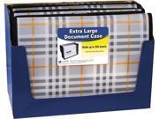 """C-line 58512 Expanding File, Plaid, Letter, 13 Pockets, 3.5"""" Exp. 1/EA"""