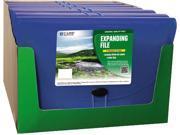 C-line 48305 7-Pocket Biodegradable Expanding File, Letter, Blue