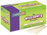 Chenille Kraft 3775-01 Natural Wood Craft Sticks, 4 1/2 X 3/8, Natural Wood, 1000/Box