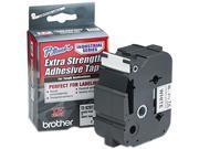 Brother TZES261 TZ Extra-Strength Adhesive Laminated Labeling Tape, 1-1/2w, Black on White