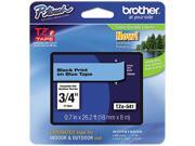 Brother TZE541 TZe Standard Adhesive Laminated Labeling Tape, 3/4w, Black on Blue sale off 2016