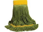 UNISAN 1200XL EcoMop Looped-End Mop Head, Recycled Fibers, Extra Large Size, Green