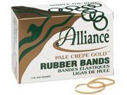 Alliance 20325 Pale Crepe Gold Rubber Bands, Size 32, 3 x 1/8, 1lb Box