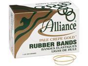 Alliance 20195 Pale Crepe Gold Rubber Bands Size 19 3 1 2 x 1 16 1lb Box