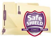Smead 19555 SafeShield Fastener Folders, Manila, Two Inch Capacity, Legal, 50/Box
