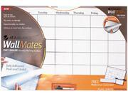 "Image of AT-A-GLANCE AW602028 WallMates Self-Adhesive Dry-Erase Monthly Planning Surface, White, 36"" x 24"""