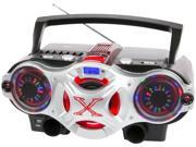 QFX J-49U PORTABLE BLUETOOTH RADIO CD/MP3 PLAYER, USB, CASSETTE RECORDER