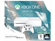 Microsoft Xbox One 500GB White Console - Special Edition Quantum Break Bundle