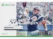 Microsoft Xbox One S 1TB Console Madden NFL 17 Bundle White 234-00025