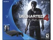 """PlayStation 4 Slim 500GB Console - Uncharted 4 Bundle Brand: Sony Type: PlayStation 4 Bundle Processor Type: x86-64 AMD """"Jaguar"""", 8 cores Installed RAM: GDDR5 8GB Hard Drive Size: 500GB Height: 4.50"""" Width: 14.00"""" Weight: 8.05 lbs."""