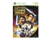 ESRB Rating: T - Teen Genre: Action Features: Star Wars: The Clone Wars delivers a unique mix of tactics and strategy in a combat-action game that follows a legendary story that has long been a favorite of sci-fi fans.  Take your battle online with Xbox Live, and engage in the greatest Episode II battle scenes. Defend the Republic against ensuing chaos and destruction as one of three heroic characters: Anakin Skywalker, Mace Windu, and Obi-Wan Kenobi. Your directive is to stop the Separatists from reassembling an ancient Sith weapon of mass annihilation.  Take over where Episode II leaves off, during the epic Clone Wars.  Undertake missions ranging from intense close-combat engagements to enormous battles on a stunning scale.  Enjoy a wide variety of craft options, including the Republic gunship, speeder bike, fighter tank, assault walker, and...