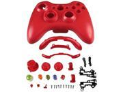 INSTEN Shell For Microsoft Xbox 360 / Xbox 360 Slim Wireless Controller - Red