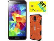 Samsung Galaxy S5 Copper Gold Unlocked GSM Phone + UAG Rust Case + H2O SIM Card
