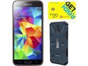 Samsung Galaxy S5 Copper Gold 3G Quad-Core 2.5GHz Unlocked GSM Phone + UAG Slate Case + H2O SIM Card