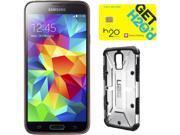 Samsung Galaxy S5 Copper Gold 3G Quad-Core 2.5GHz Unlocked GSM Phone + UAG Ice Case + H2O SIM Card