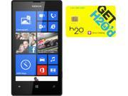 Nokia Lumia 520 RM-915 Black 8GB Windows 8 OS Phone + H2O $30 SIM Card