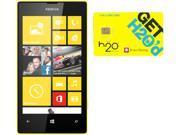 Nokia Lumia 520 RM-915 Black/Yellow 8GB Windows 8 OS Phone + H2O $30 SIM Card