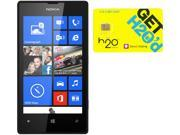 Nokia Lumia 520 RM-915 Black 8GB Windows 8 OS Phone + H2O $40 SIM Card