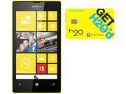 Nokia Lumia 520 RM-915 Black/Yellow 8GB Windows 8 OS Phone + H2O $40 SIM Card