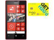 Nokia Lumia 520 RM-915 Black/Red 8GB Windows 8 OS Phone + H2O $50 SIM Card