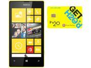 Nokia Lumia 520 RM-915 Black/Yellow 8GB Windows 8 OS Phone + H2O $50 SIM Card