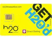 H2O Wireless H2O NANO SIM - 40 $40 Nano SIM Card