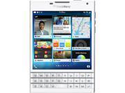 BlackBerry Passport White 3G 4G LTE Quad-Core 2.26 GHz Unlocked GSM BlackBerry 10.3 OS Cell Phone